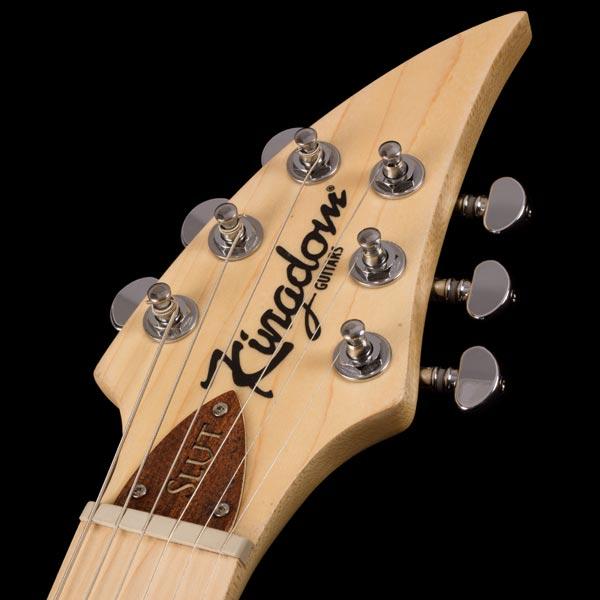 kingdom slvt electric guitar headstock-close